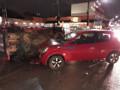 Colisão entre dois carros deixa um tombado em cruzamento da Capital