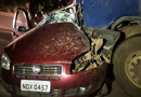 Casal e filha morrem em colisão entre Siena e carreta na BR-364