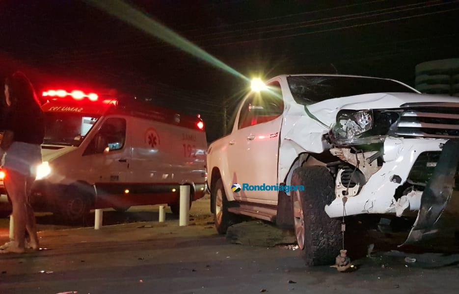 Motorista de Hilux avança preferencial e mata passageira de mototaxista em Porto Velho