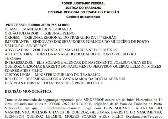 Justiça do Trabalho mantém eleição do Sindeprof para o dia 18 de janeiro