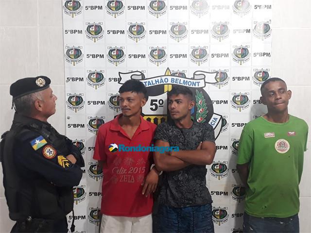 Três foragidos são presos com drogas em casa da zona rural