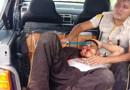 Fotos e vídeo: bando tenta assaltar carro forte, incendeia veículo e fere segurança na BR-319