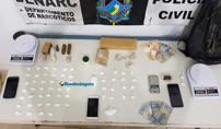 Denarc prende dupla com maconha e várias porções de cocaína em residência na Capital