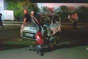 Motorista tenta fazer retorno em avenida e causa grave acidente na Capital