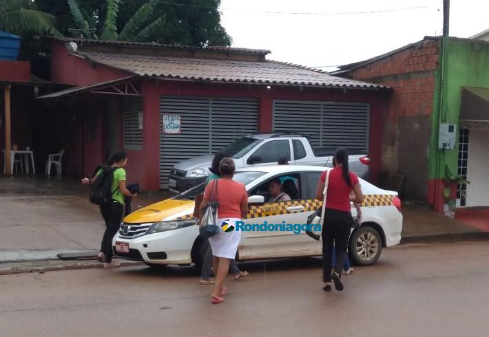 Sem ônibus, saída do portovelhense é o táxi compartilhado e lotação