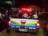 Polícia intercepta comboio de motos roubadas na BR-364 e uma mulher é presa