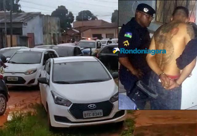 Criminoso é preso após fazer arrastão em motoristas de aplicativos