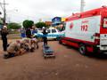 Acidente entre moto e carro deixa dois feridos em Porto Velho