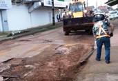 Operação tapa-buracos beneficiará mais de 30 ruas de Porto Velho nesta semana, diz Prefeitura