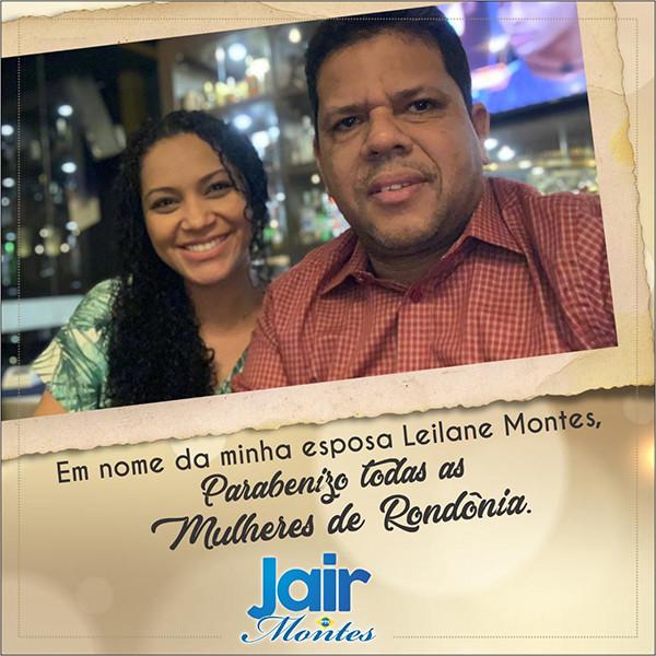 Mensagem do deputado Jair Montes