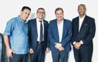 Edesio Fernandes discute emendas para asfalto e saneamento com deputado Alex Silva e prefeito da Capital