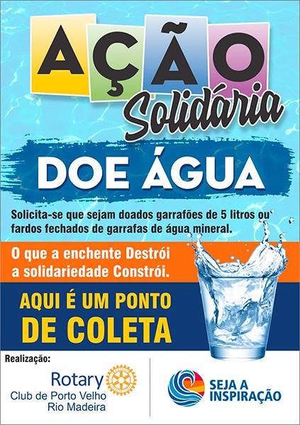 Rotary Club lança campanha e pede doação de água para atingidos pela enchente