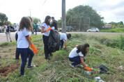 Canal dos Tanques recebe limpeza e mais de 200 mudas de árvores em comemoração ao Dia Mundial da Água