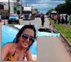 Mulher perde o controle de moto, cai e morre esmagada por carreta