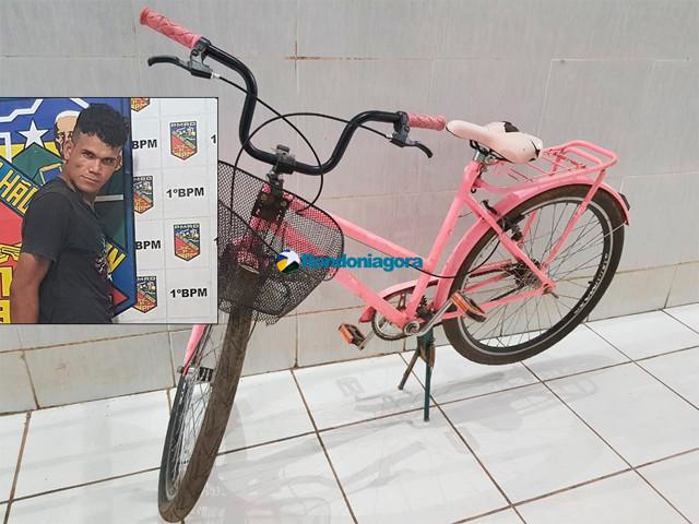 Criminoso morde estudante para roubar bicicleta, mas acaba preso