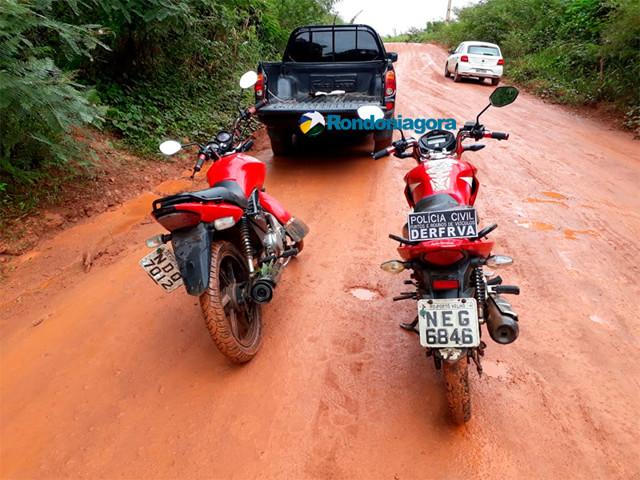Motos roubadas no final de semana são localizadas pela Delegacia Especializada em Furtos e Roubos de Veículos