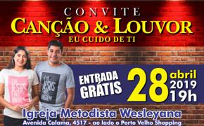 """Dupla """"Canção e Louvor"""" neste domingo na Igreja Wesleyana"""