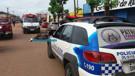 Idosa e filho ficam feridos em acidente entre motos na Zona Leste da Capital