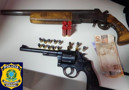 Suspeito de roubo é preso com revólver e espingarda na BR-364