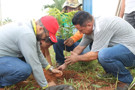 Vereador Edésio participa de ação de limpeza e arborização no Bairro Planalto