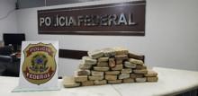 Caminhoneiro é preso transportando 33 kg de cocaína