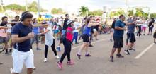 Sorteio de brindes, aula de aeróbica e diversão marcam Caminhada do Judiciário na Capital