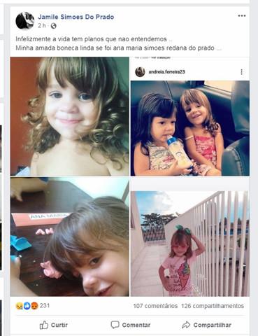 Mãe informa morte da menina atropelada no Bairro Novo; hospital ainda não confirma
