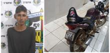 Foragido da Colônia Penal é preso com moto roubada