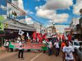 Manifestantes também protestam pelas ruas de Porto Velho