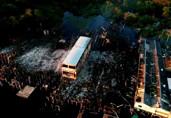 Imagens mostram destruição em Buena Vista, após incêndio desta segunda-feira