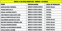 Sesau convoca com urgência médicos aprovados no concurso de 2017