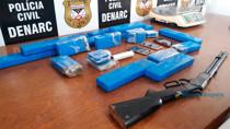 Foragidos perigosos de Ji-Paraná são presos em Porto Velho com 13 quilos de maconha