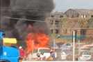 Vídeo: Incêndio destrói veículos na empresa Saga