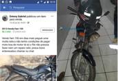 Dono reconhece moto furtada sendo vendida na internet; vendedora diz que também caiu em golpe