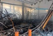 Vídeos e fotos: o que restou do prédio da Rondobras após o grande incêndio de sábado