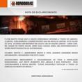 Rondobras emite nota sobre incêndio em Porto Velho