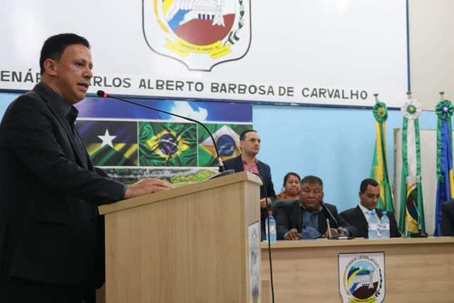 Vereador Edesio participa da posse do novo prefeito de Candeias do Jamari