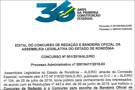 Confira o edital dos concursos de Redação e da Bandeira Oficial da Assembleia Legislativa