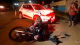 Grave acidente com motocicleta deixa três feridos