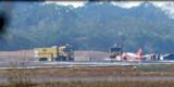 Aeroporto é interditado após pneu de avião dos Bombeiros furar durante aterrissagem