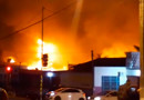 Vídeo: Incêndio de grandes proporções destrói prédio de empresa em Ji-Paraná