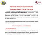 Prefeitura de Monte Negro oferece 145 vagas em concurso público