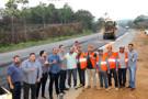 Presidente Laerte Gomes e governador Marcos Rocha visitam obras do Anel Viário de Ji-Paraná