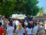 Servidores da Saúde protestam em frente ao Pronto Socorro João Paulo II contra aumento de plantões