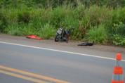 Motociclista morre durante colisão na BR-364, neste domingo