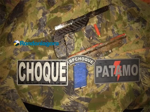 Após denúncia, Polícia localiza armas caseiras abandonadas na Capital