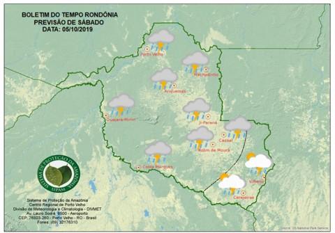 Frio no sul e muita instabilidade deixam tempo nublado no sábado