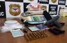 Casal é preso com 4 kg de cocaína e uma pistola na BR-364