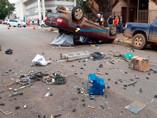 Grave acidente com capotamento no centro de Porto Velho