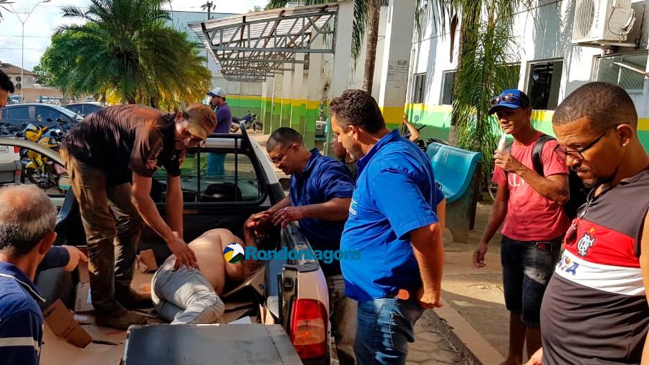 Urgente: Dupla em moto atira e fere dois trabalhadores dentro de empresa em Porto Velho